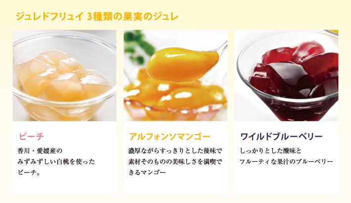 ジュレドフリュイ 2種類の果実のジュレ